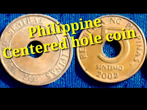 Republika Ng Pilipinas 5 Sentimo A Centered Hole Coins In The Philippines