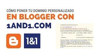 como popner dominio personalizado blogger en1and1