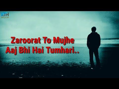 True Line Status Very Sad Heart Touching Whatsapp Status Video   2 Line Status - Kash Tum Hoti
