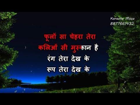 Phoolon Sa Chehra Tera - Karaoke - Anari (1993) - Udit Narayan