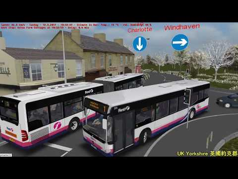 Omsi 2 tour (1385) UK Yorkshire Bus 3 Hospital Circular Sunday / Night @ RHD MB Citaro 18m