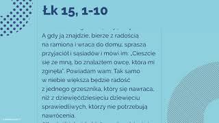 #Ewangelia   8 listopada 2018   (Łk 15, 1-10)