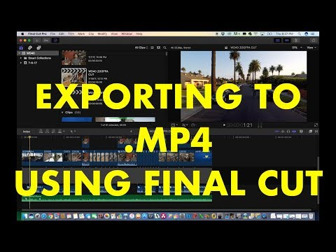 How To Export From FCPX in .MP4 Format