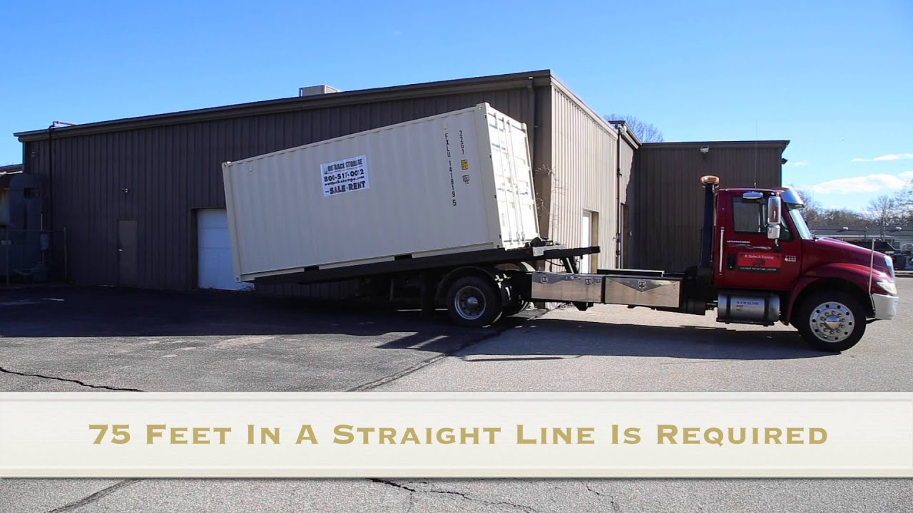 20 Storage Container Delivery How Much Room Is Required YouTube