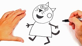 How to draw Peppa Pig Cat Step by Step | Drawings Tutorials
