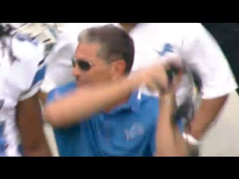 Jim Schwartz Throws Headset, Lions Vs Redskins 2013