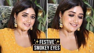 Indian Festive Makeup Tutorial | Smokey Liner | corallista