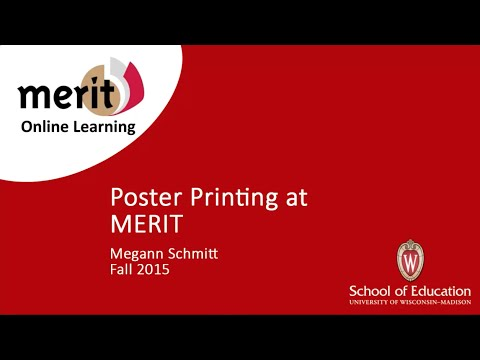 Poster Printing at MERIT Library
