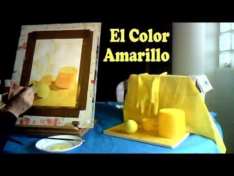 MEZCLAR COLORES. Gama de amarillos. Pintar con témperas. Mix colors ...