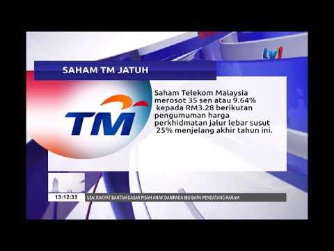 SAHAM TELEKOM MALAYSIA JATUH [21 JUN 2018]