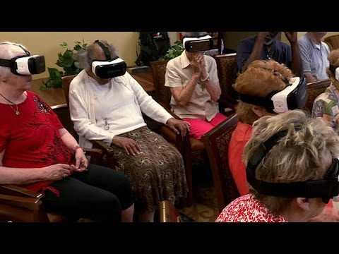 Senior community explores the world with virtual reality
