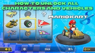 Mario Kart 8 - How to Unlock Everything (All Characters and Vehicle Parts) Wii U