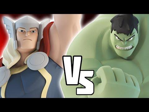 DISNEY INFINITY 3.0 VERSUS - Thor VS HULK (kwingsletsplays) Marvel Battlegrounds |