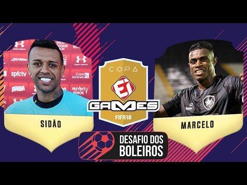 SIDÃO (SÃO PAULO) x MARCELO (BOTAFOGO) - COPA EI GAMES FIFA 18 DE BOLEIROS