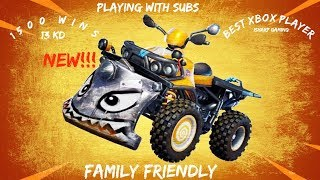 Fortnite Battle Royale l ****FAMILY FRIENDLY**** l Sqauds With Subs l Adding All Subs l $25 Giveaway