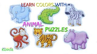Learn Colors With Animal Puzzles