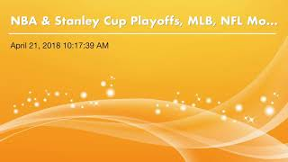 Ultimate Sports Blog Podcast: NBA & Stanley Cup Playoffs, MLB, NFL Mock Draft