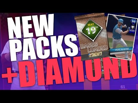 99 DIAMOND PEPE ALAZAR? WHITE SOX KEN GRIFFEY JR! | NEW PACKS! | MLB THE SHOW 17 DIAMOND DYNASTY