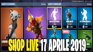 NPTNITE SERVER FORTNITE ITA LIVE SHOP 17 AVRIL 2019 - A 40 ABBONATI REGALO 1 SKIN 36/40!