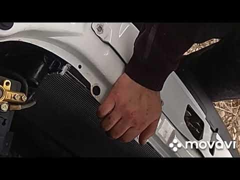 Замена радиатора не снимая бампер ПРИОРА скандюком