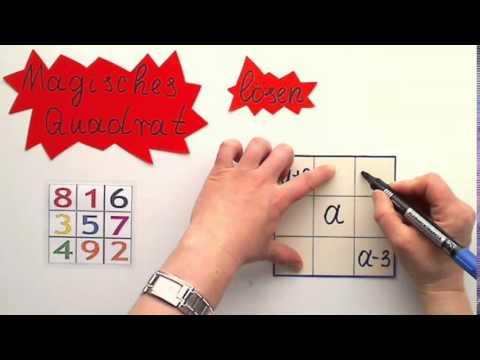 Magisches Quadrat lösen - YouTube
