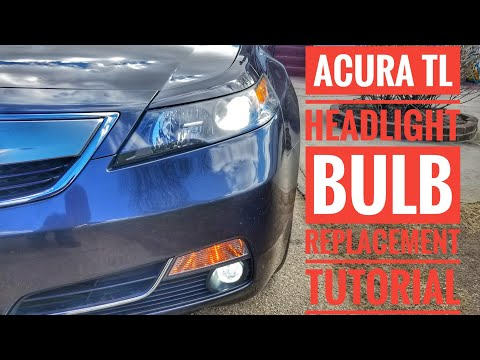 HOW TO REPLACE 2009 2010 2011 2012 2013 2014 ACURA TL HEADLIGHT BULB TUTORIAL