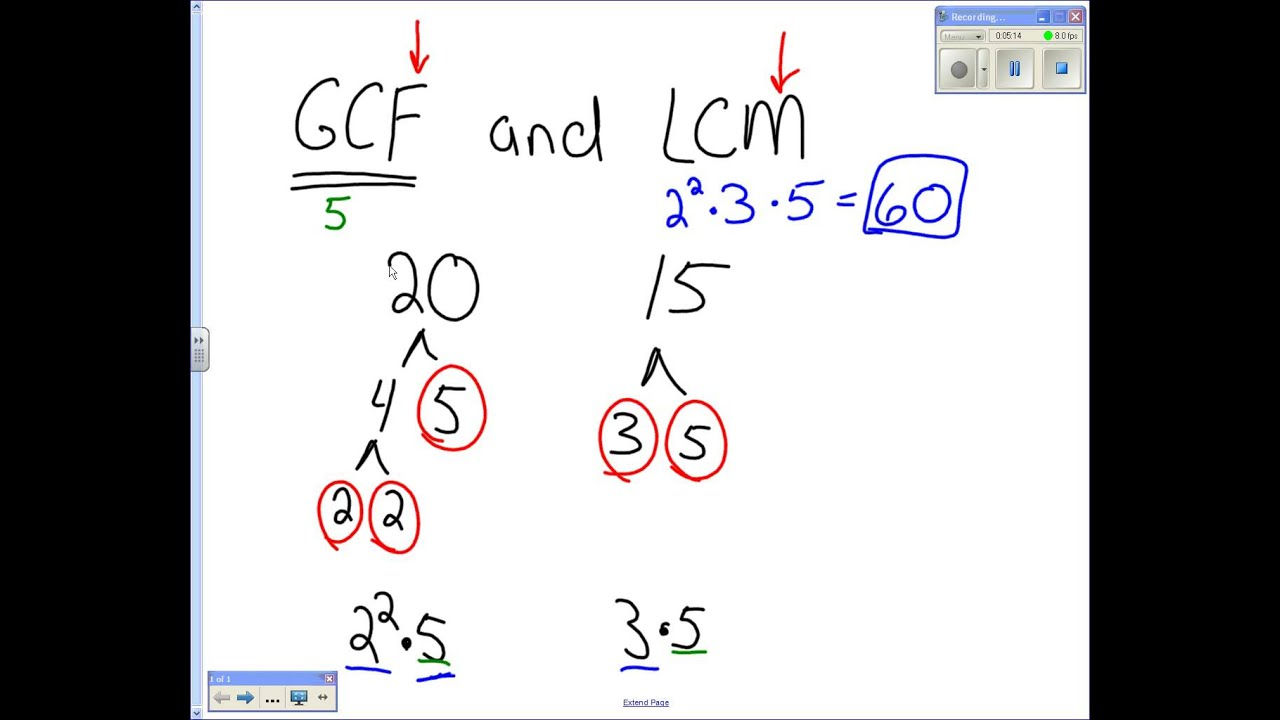 how to find gcf and lcm