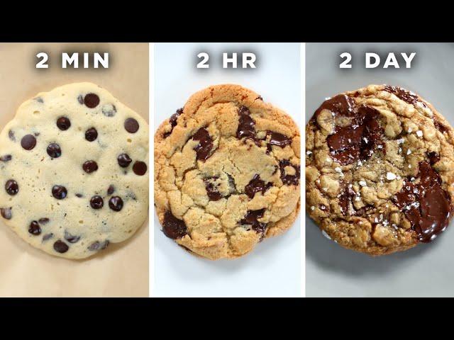 2-Minute Vs. 2-Hour Vs. 2-Day Cookie •Tasty