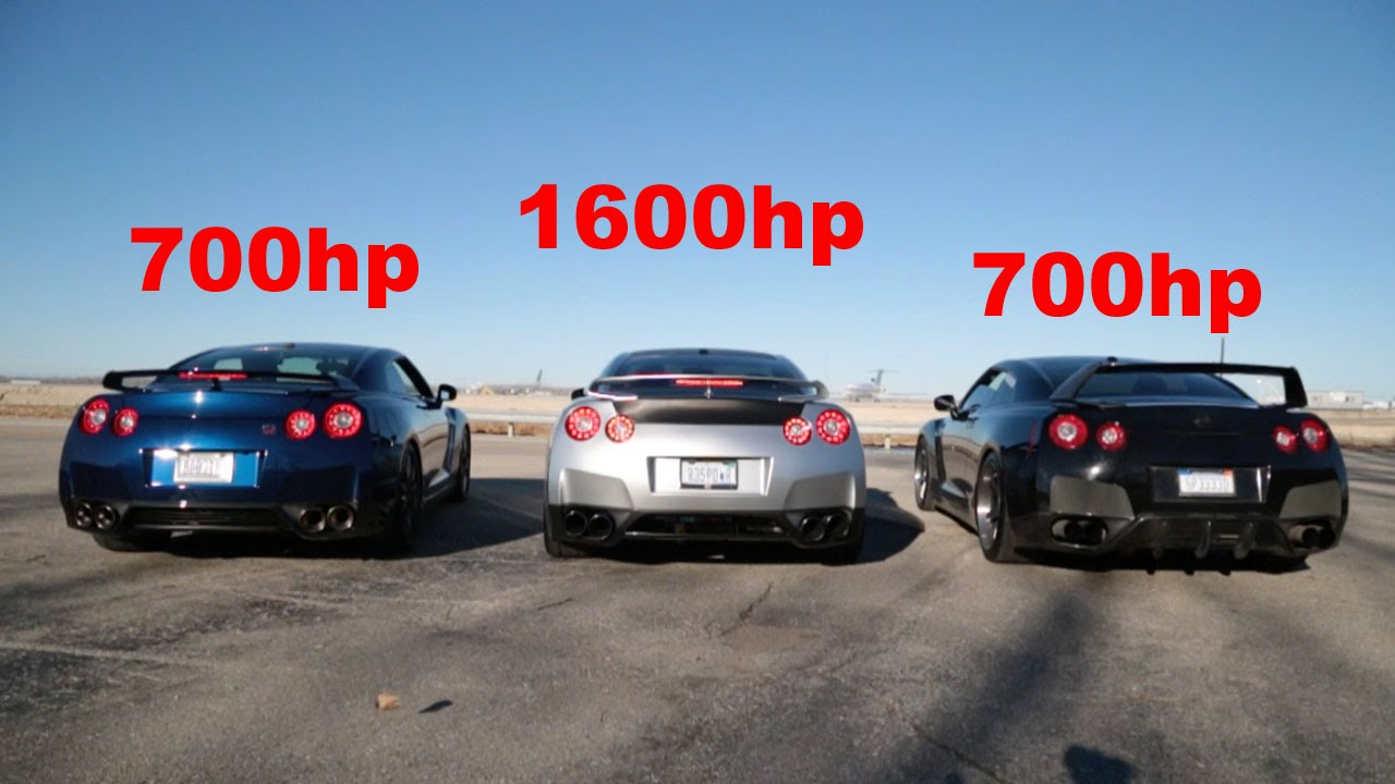 How Much Horsepower Does A Gtr Have >> Listen To A 1600hp 700hp And 700hp Nissan Gtr Scream