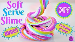 DIY Soft Serve Slime - Huge Bubblegum Slime!