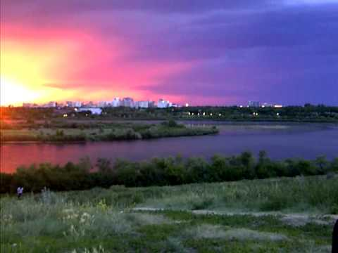 Regina Saskatchewan Canada- Sunset Before July 1, 2012 Fireworks