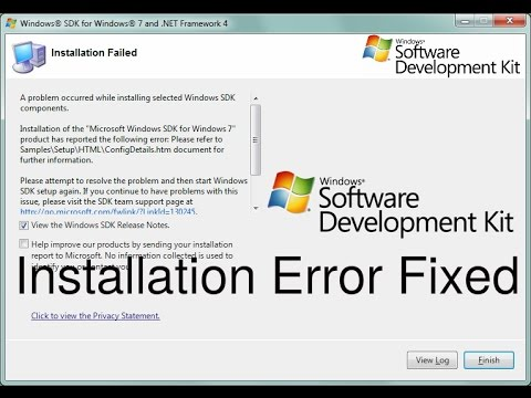 Problem occurred while installing Windows SDK components error fixed