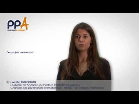 Présentation du Mastère International Business du Pôle Paris Alternance