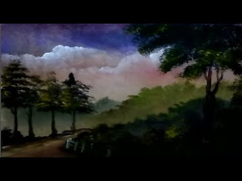 How to Draw Forest Sunrise Beautiful | Acrylic Painting Landscape | Step By Step