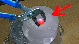RED HOT STEEL BALL AND ICE