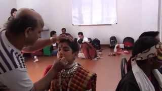 Children Yakshagana Offstage Drama - Post refreshment makeup touchups