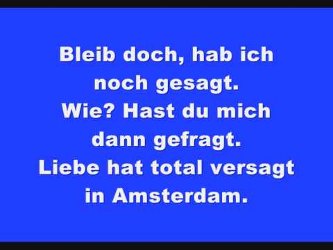 Axel Fischer - Amsterdam Lyrics