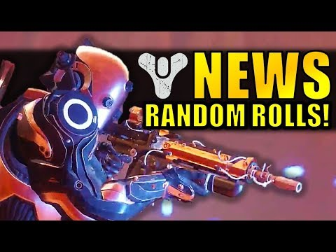 Destiny 2 News: RANDOM ROLLS BACK!? New Exotic Buffs! Weapon Slot Changes?