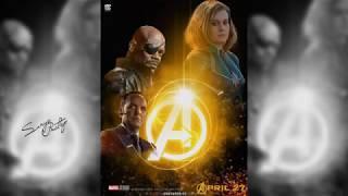 Avengers Infinity War Captain Marvel Poster Design || Photoshop || SpeedArt ||