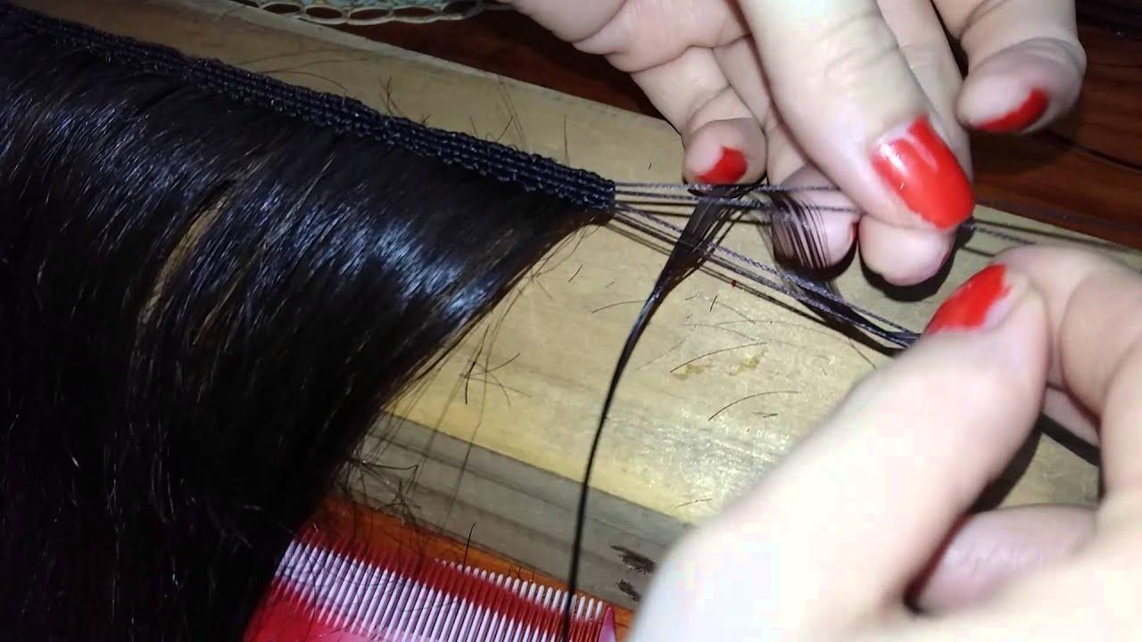 como coser a mano una cortina de pelo natural  YouTube