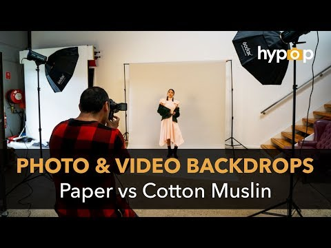 Photography and Video Backdrops - Difference Between Cotton & Paper Backgrounds
