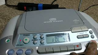Sony  CFD-S01 Radio CD And Cassette Player Recorder Silver Stereo Boombox