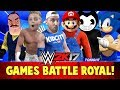 WWE 2k17 Games Battle Royal! With Bendy, Hello Neighbor, Mario & Sonic!