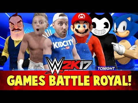 Thumbnail: WWE 2k17 Games Battle Royal! With Bendy, Hello Neighbor, Mario & Sonic!