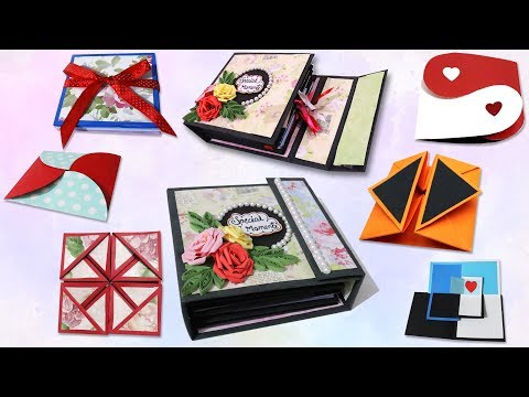 scrapbook ideas | how to make 7 different cards for scrapbook | diy scrapbook