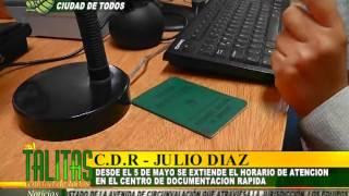 NUEVO HORARIO DE ATENCIÓN EN CENTRO DE DOCUMENTACIÓN RÁPIDA- LAS TALITAS CIUDAD DE TODOS