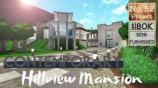 Bloxburg Build || Contemporary Hillside Mansion | Roblox