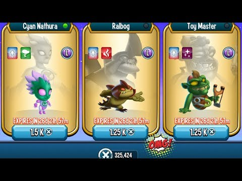 Monster Legends - Team Shop Update Cyan Nathura Ralbog Toy Master Review combat