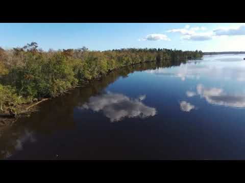 Ogeechee River in Savannah, GA - Aerial Drone Video