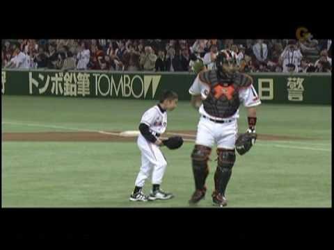 【プロ野球】木村拓也コーチ長男のストライク始球式